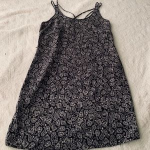 NWT Black white paisley dress size small Strappy